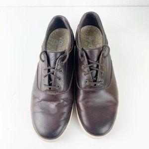 Olukai Makani Lace Up Brown Leather Shoe